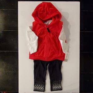 Carter's Baby Girl/Toddler Holiday 3 Piece Set